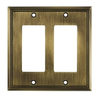 Richelieu BP8511 Double Contemporary Rocker Switch Plate from the Decora Collection