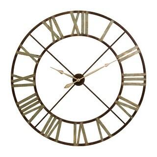 """IMAX Home 27635  48"""" Diameter Jasper Analog Wall Clock - Bronze"""
