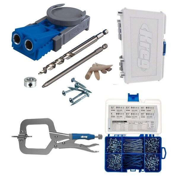 Kreg R3 Master System With SK04 Pocket Hole Screw Starter Kit - Blue
