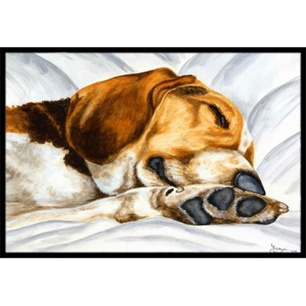 Carolines Treasures AMB1076MAT Beagle Bliss Indoor or Outdoor Mat 18 x 27
