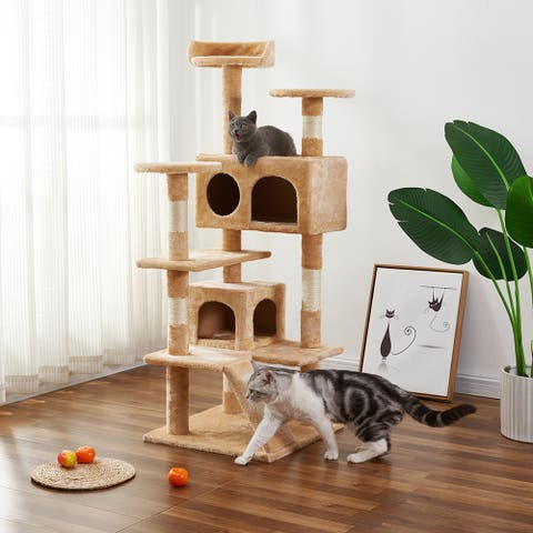 Kittens Multi-Level Cat Tree Cat Condo with Scratching Posts