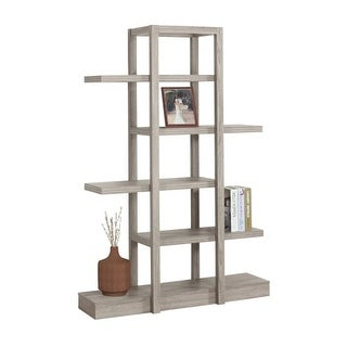 Monarch Specialties I 2539 71 Inch Tall Five Tier Wood Bookcase
