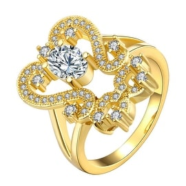Gold Open Double Abstract Ring