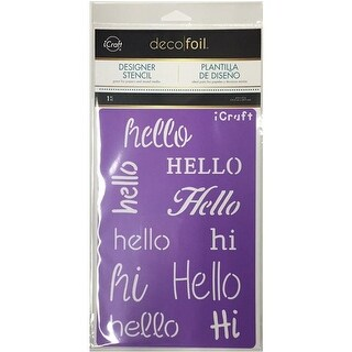 Thermoweb DFS-5501 Hello Deco Foil Stencils