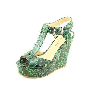 INC International Concepts Darma Women Open Toe Synthetic Green Wedge Heel
