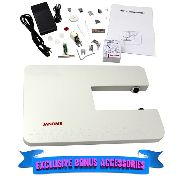 """Janome 2030QDC-B Computerized Quilting and Sewing Machine with Bonus Quilt Kit - 11"""" x 14"""" x 19"""""""