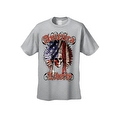 Men's T-Shirt American Liberty USA Flag Feathers Skull Native Chief Freedom Tee - Thumbnail 4