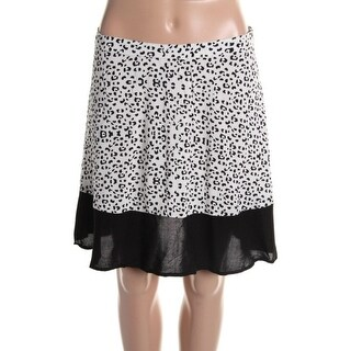 Impulse Womens Animal Print Colorblock Mini Skirt - S