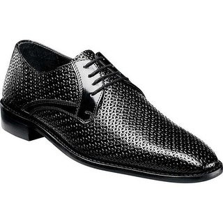 Stacy Adams Men's Rico Plain Toe Derby 25083 Black Madras Embossed Leather
