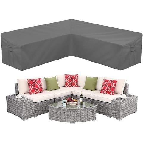 Patio Sectional Sofa Cover Heavy Duty Waterproof
