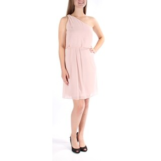 ADRIANNA PAPELL $99 Womens New 1280 Pink Asymetrical Blouson Dress 6 BB