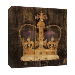 """PTM Images 9-151884  PTM Canvas Collection 12"""" x 12"""" - """"Regal Crown"""" Giclee Crowns Art Print on Canvas"""