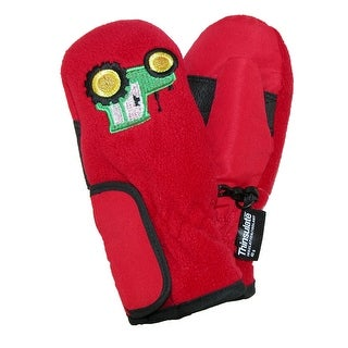 Grand Sierra Toddlers 2-4 Embroidered Waterproof Mittens - black with motorcycles - One Size