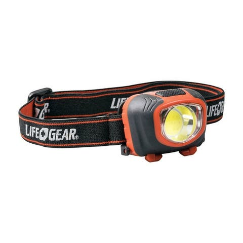 Life Gear 41-3765 Storm Proof LED Head Lamp, Plastic, Black/Red, 260 Lumens