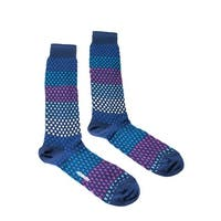Missoni GM00CMU5443 0001 Blue/Pink Knee Length Socks - M