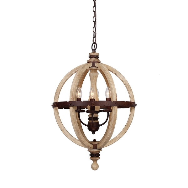 44 Inch Decorative High Quality Luxurious Ceiling Fans: Shop Farmhouse 20-inch 4-Light Distressed Wood Orb