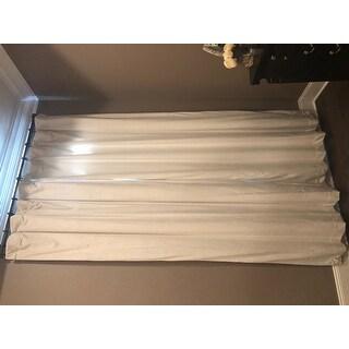 Exclusive Fabrics Signature Off White Velvet Blackout Curtain Panel