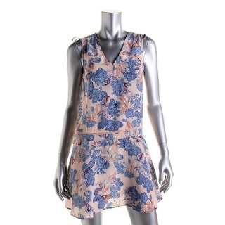Twelfth St By Cynthia Vincent Womens Petites Silk Blend Printed Casual Dress - S
