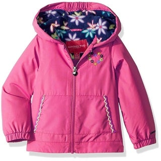 London Fog Girls 2T-4T Heart Hooded Jacket - Turquoise (3 options available)