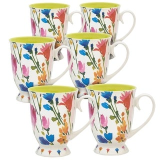 Link to Pfaltzgraff Pink Floral Footed 16OZ Mug (Set of 6) Similar Items in Dinnerware