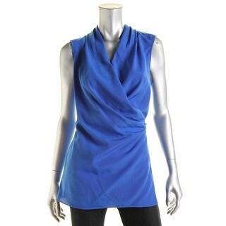 Calvin Klein Womens Tunic Top Sleeveless Wrap