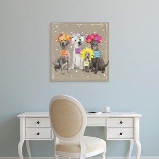 Easy Art Prints Hammond Gower's 'Fancypants Wacky Dogs V' Premium Canvas Art