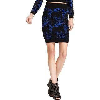 Material Girl Womens Juniors Pencil Skirt Bodycon Pattern - XL