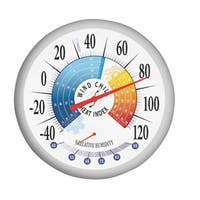 Taylor 90078 Patio Dial Wind Thermometers 13.25''