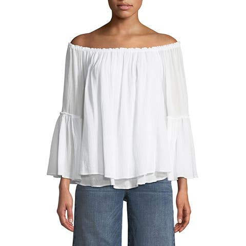 Bailey 44 White Off Shoulder Bahama Layered Blouse