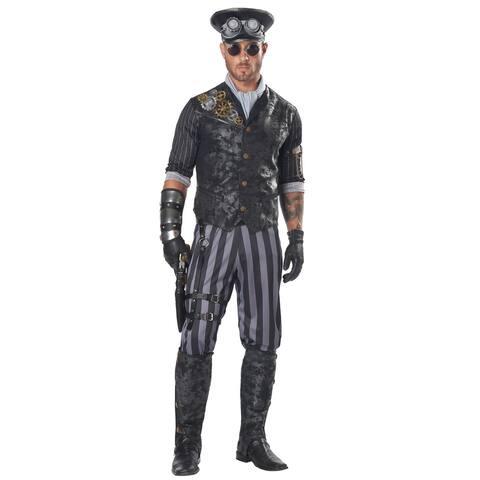California Costumes Steampunk Commander Adult Costume - Black/Grey