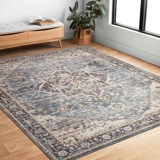 Link to Alexander Home Venetian Printed Medallion Distressed Area Rug Similar Items in Bath