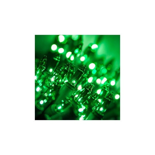 """Wintergreen Lighting 17513 13.3' Long Indoor Standard 35 Mini Light Holiday Light Strand with 4"""" Spacing and Green Wire"""