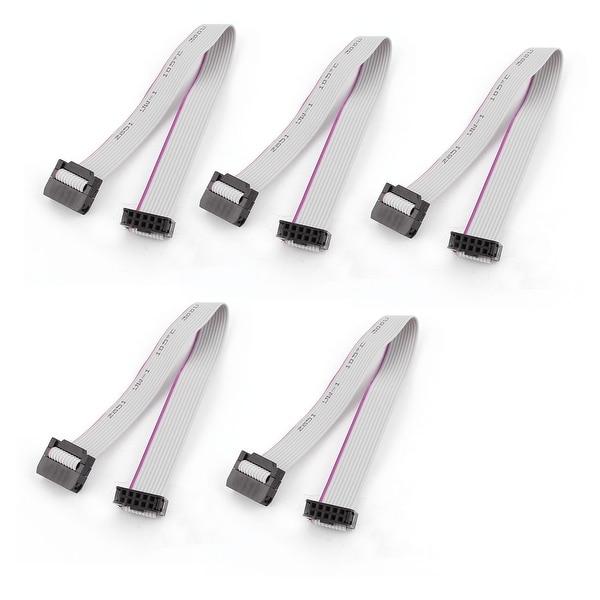 Unique Bargains 5pcs IDC 10Pin Hard Drive Extension Wire Flat Ribbon Cable Female Connector 20cm