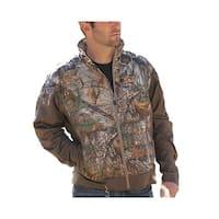 Cinch Western Jacket Mens Outdoor Logo Pockets Green Brown
