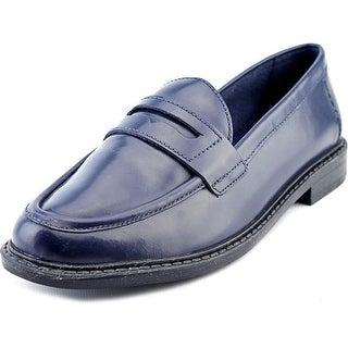 Cole Haan Pinch Campus Penny Women Cap Toe Leather Blue Loafer