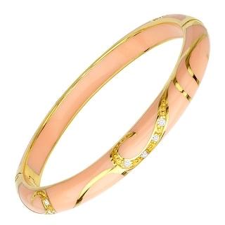 Cristina Sabatini Peach Flourish Bangle in 14K Gold-Plated Sterling Silver