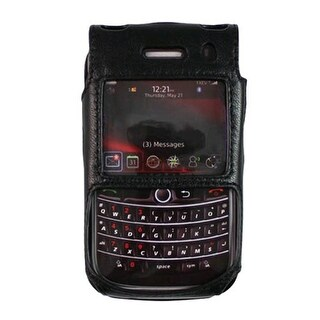OEM Verizon Fitted Leather Case for Blackberry Bold 9650 / Tour 9630 - Black (Bu