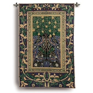 """Pear Tree Tapestry - Cotton/Polyester Fabric - 38"""" Wide X 56"""" High"""