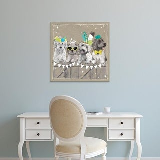 Easy Art Prints Hammond Gower's 'Fancypants Wacky Dogs III' Premium Canvas Art