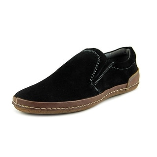 Spring Step Michele Men Round Toe Suede Black Loafer