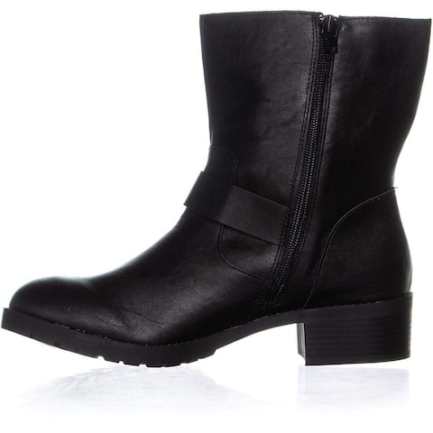 Style & Co. Womens Gianara Round Toe Ankle Motorcycle Boots