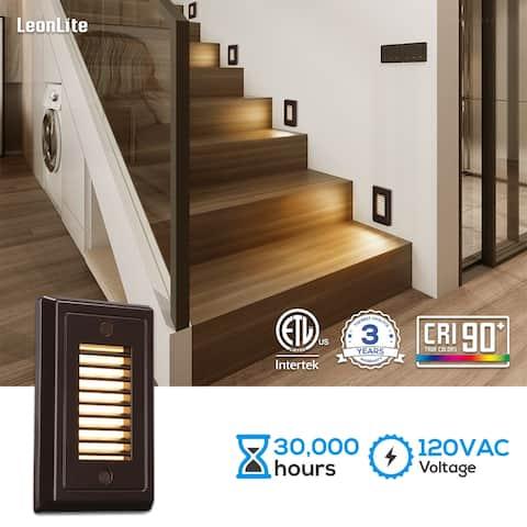 120V Dimmable LED Step Light 3000K Warm White Oil Rubbed Bronze