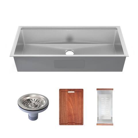 Rivage 45 x 19 Single Basin Undermount Kitchen Workstation Sink - 45 x 19