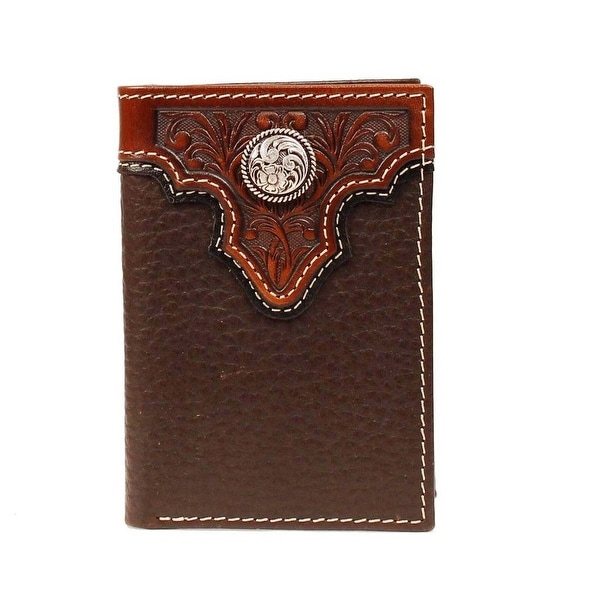 Ariat Western Wallet Mens Trifold Tooled Leather Concho - One size
