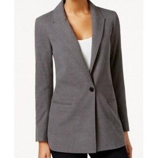 Tommy Hilfiger NEW Gray Women's Size 8 Single Button Fleece Jacket