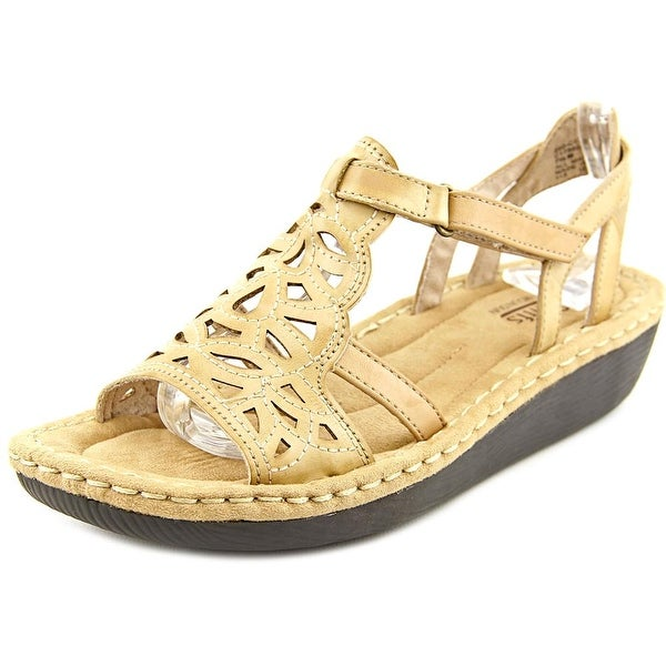 White Mountain Chambray Women  Open Toe Synthetic Tan Wedge Sandal