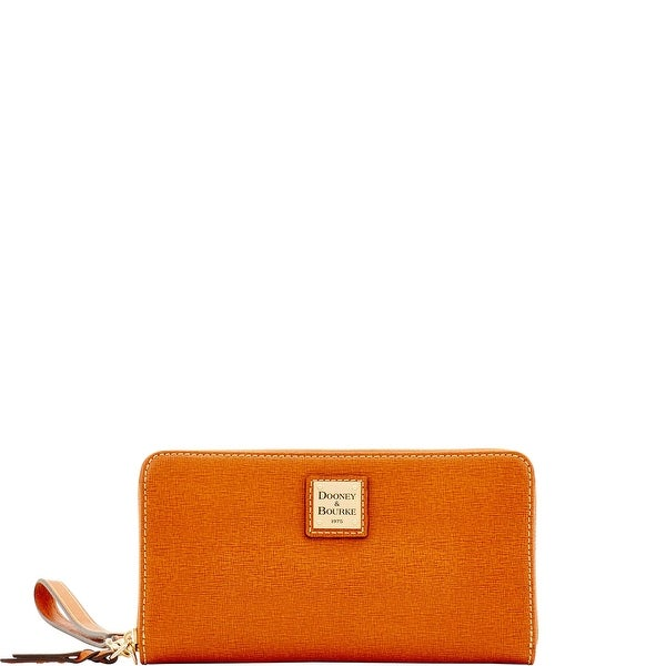 Dooney & Bourke Saffiano Large Zip Around Wristlet (Introduced by Dooney & Bourke at $138 in May 2017)