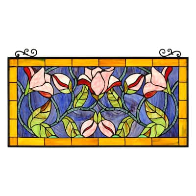 Floral Design Window Panel/ Suncatcher