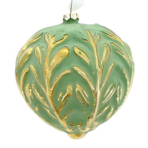 Green Glass Ornament