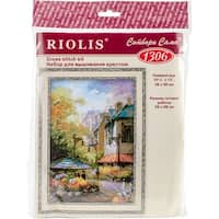 "Flower Street Counted Cross Stitch Kit-10.25""X15"" 14 Count"
